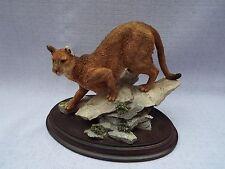 Country Artist Nature Trial Cougar  Figurine Ornament CA Wild Cat 747