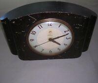 Vintage Warren Telechron Electric Mantel Clock Model 4H87 Dark Wood NEEDS REPAIR