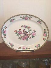"F Winkle & Co England 14"" Hand Painted Pheasant Porcelain Platter Excellent"
