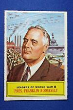 1965 Topps Battle Cards - #63 Pres. Franklin Roosevelt - ExMt-NrMt