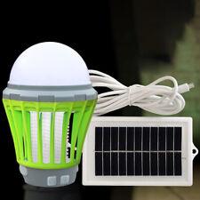 Solaire Lampe Anti-moustique Rechargeable Tue-mouches électriques Zapper Insecte