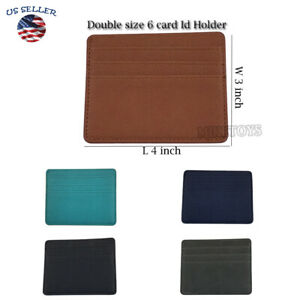 Leather Mens Small Id Credit Card Wallet Holder Slim Case Pocket (1)