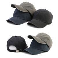 XL~2XL XXL 61~64Cm Unisex Mens Faded Washed Out Plain Baseball Cap Trucker Hats
