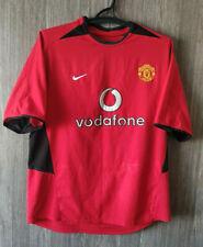 Beckham #7 Manchester United 2002 Home Nike Football Shirt Soccer Jersey Size L