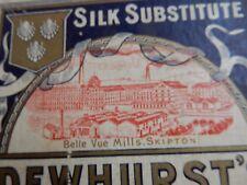BELLE VUE MILLS SKIPTON  vintage box and contents  10x 14x4 cm  BD23 1FJ