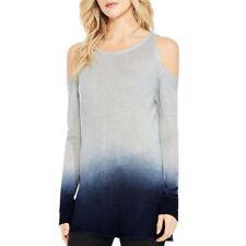 591a407d5ed6ca Two by Vince Camuto Cold Shoulder Long Sleeve Dip Dye Top NWT Gray