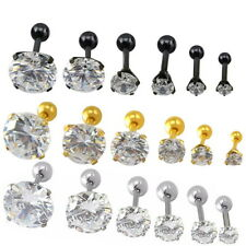 2PCS Simulated Diamod Screw Back Earring Made With Swarovski Crystal Jewelry