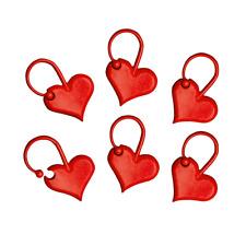 Addi Addi LOVE Marcadores De Corazón Rojo 6 piezas en bolsa