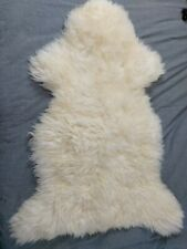 WILDASH LONDON Luxurious British Sheepskin Ivory White Rug Throw Hide Medium