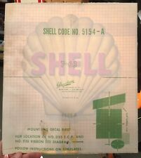 """GAS PUMP LUBSTER 12/"""" 1960-70 OWENS OCO PEP GASOLINE DECAL FOR OIL CAN"""