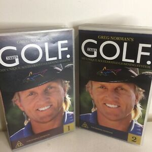 Greg Norman's Better Golf Volume 1&2 VHS Cassettes Accelerated Learning System