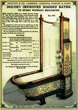 19TH C. VICTORIAN DOULTON HOODED BATH TUB ADVERTISEMENT V.1  A3 POSTER RE PRINT