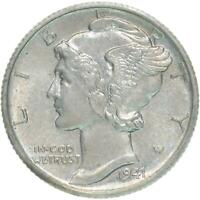 1941 S Mercury Dime Small s 90% Silver About Uncirculated AU