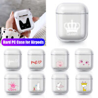 Earphone Crown Love Transparent Protective Cover For Apple Airpods Hard PC Case