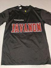 Diadora Javanon DiaDry Youth Medium Soccer Jersey #9 Black White Red T Shirt EUC