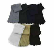 TOE SOCKS Premium Cotton Ankle Five Finger Socks Black Grey Brown Mens Womens