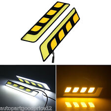 7.5W Xenon White Angel Wings COB LED DRL Fog Driving Light w/ Amber Turn Signal