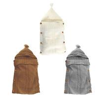 Couverture a langer pour bebe nouveau-ne Sac de couchage en tricot Sac de s V4M8
