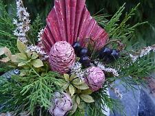 Grabschmuck Grab Gesteck Naturdeko Kugel Waldfriedhof Urnengrab Gedenken