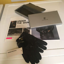 PORSCHE DESIGN DRIVER'S SELECTION MEN'S LEATHER DRIVING GLOVES. EURO LARGE. NIB