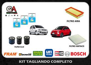 Kit tagliando Fiat Panda 1.2 gpl 51 kw 69 cv + 3 lt Olio Selenia Multipower 5W40