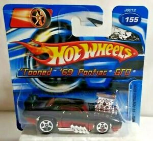 MATTEL HOT WHEELS TOONED 1969 PONTIAC GTO - J8012 - SEALED BLISTER PACK