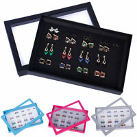100 Slots Jewelry Ring Display Organizer Case Tray Holder Earring Storage Box