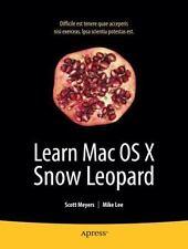 NEW - Learn Mac OS X Snow Leopard (Learn Series)
