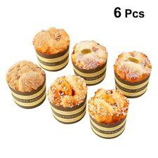6 PCS Artificial Mixed Fake Cupcakes Realistic Fake Food for Decoration Display
