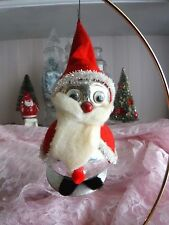 Vtg Mercury Glass Googly Eyes Santa Christmas Ornament Figure Decoration Japan
