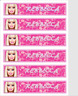 PERSONALISED BARBIE CHILDRENS BOOKMARKS LAMINATED X 6 PARTY/TEACHERS/PARENTS