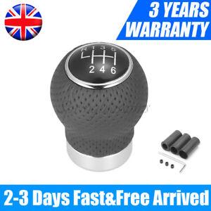 6 Speed Universal Manual Car Gear Shift Knob Shifter Lever Black PU Leather UK