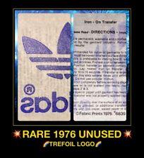 70s 80s 1976 ADIDAS sportswear cap hat shirt classic trefoil vTg t-shirt iron-on
