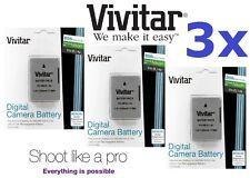 Hi Capacity 3-Pcs Vivitar 2300mAh EN-EL14a EN-EL14 Battery for Nikon D3400 D5500