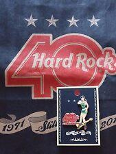 HARD ROCK CAFE BANGKOK THAILAND 40TH ANNIVERSARY GIRL & GUITAR PIN. BRAND NEW.