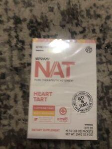 Pruviy Nat Keto Heart Tart Caffeine Free 20 Packets Exp 8/21