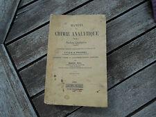 Manuel de chimie analytique T1 ANALYSE QUALITATIVE Dunod 1939 10€ achat immédiat