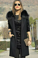 Zara Gilet Sleeveless Coat. With Detachable Faux Fur. ASO Trinny. Small up To 12