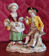 Antique German 'Sitzendorf' Porcelain Group Figurine