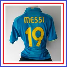 Maillot Original MESSI #19 Barcelone Away 2007 2008 M Barcelona Shirt Jersey