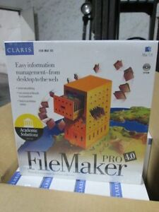 Claris FileMaker 4.0 Pro PC MAC CD Software Brand New Powerful Data Management!