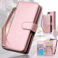 Women's Wallet Card Slot Leather Case Slim Cover for iPhone XR Xs Max X 8 7 Plus