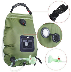 20L Camping Shower Portable Outdoor Solar Heating Shower Hiking Water Bag Kit f4