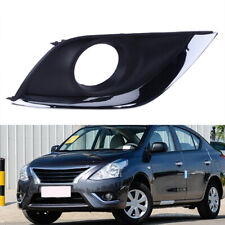 Right Chrome Front Bumper Fog Lights Bezel Cover Trim For Nissan Versa 15-18