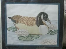 Golden Bee Stitchery Canada Goose Counted Cross Stitch Kit with Frame