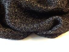 """Negro/blanco de lana tejido con bucles como se ve en la parte superior del Diseñador Catwalk yarda 58"""" 148cm"""