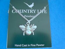 on chain Made in Uk Bumble Bee English Pewter Pendant