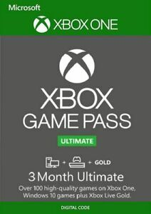 XBox Game Pass Ultimate 3 Month (Game Pass + XBL Gold) Membership Code Global