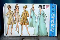 Vintage 1960s Sewing Pattern Simplicity Ladies Dress & Coat Size 14 Bust 36
