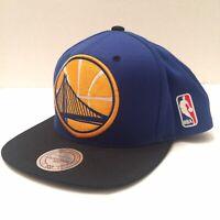 Mitchell & Ness NBA Golden State Warriors Blue Gold Black Snapback Hat Cap